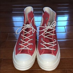 Red Converse Chuck 70s Retro Stripe High Top